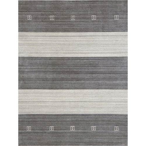 Amer Rugs Blend Ivory and Gray Rectangular: 2 Ft x 3 Ft Rug