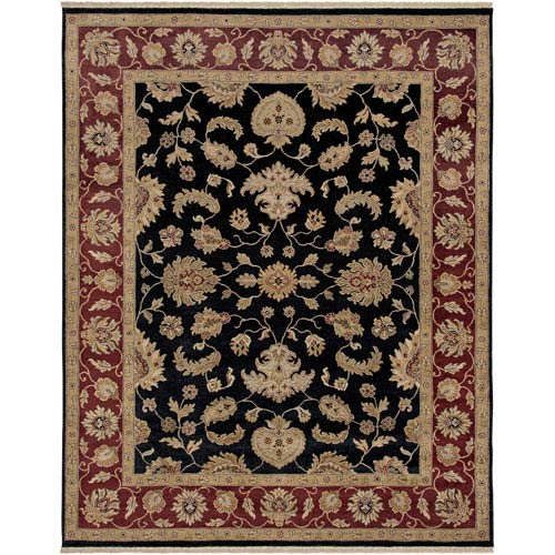 Luxor Black Rectangle: 6 Ft. x 9 Rug