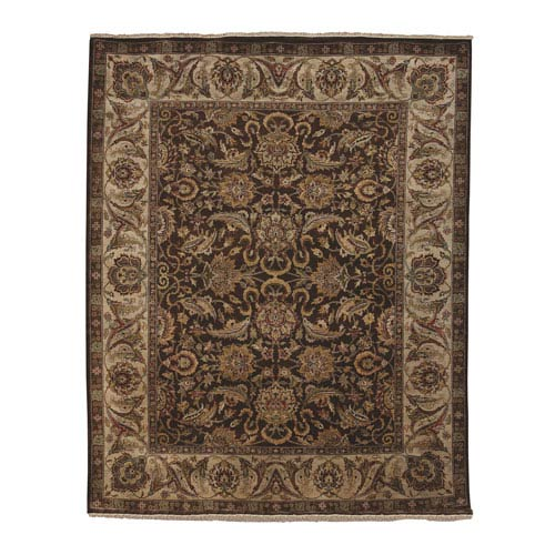 Amer Rugs Luxor Siwah Design Chocolate and Ivory Rectangular: 2 Ft. x 3 Ft. Rug