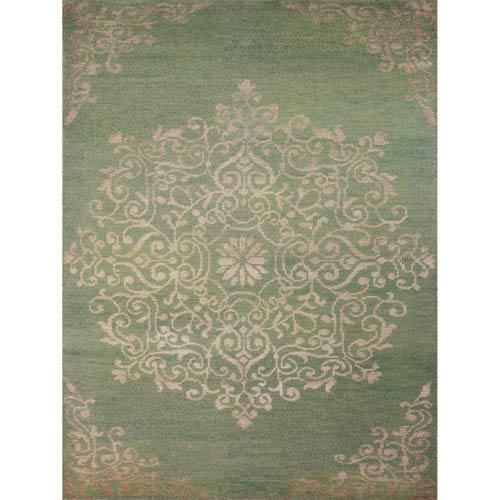 Kimaya Grass Green Rectangular: 9 Ft. x 13 Ft. Rug