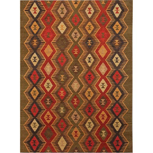 Amer Rugs Makamani Design Green Rectangular: 2 Ft. x 3 Ft. Rug