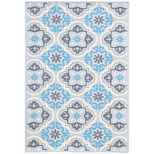 Piazza Blue Indoor/Outdoor Rectangular: 5 Ft. x 7 Ft. 6 In. Rug