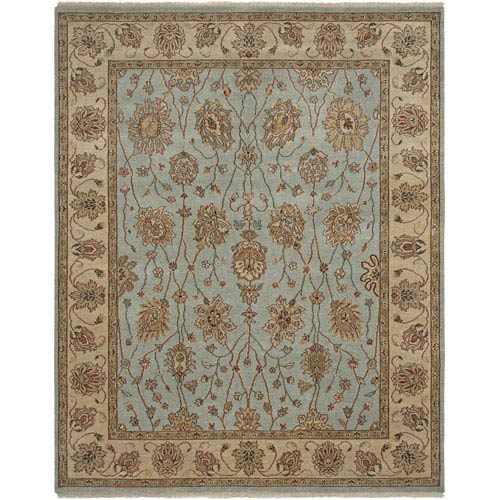 Amer Rugs Oasis French Blue Rectangle: 6 Ft. x 9 Rug