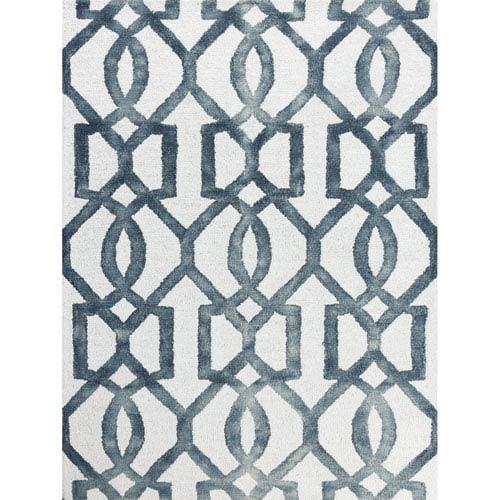 Amer Rugs Shibori White and Gray Rectangular: 2 Ft x 3 Ft Rug