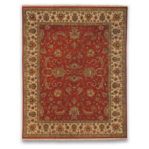 Amer Rugs Soumak Eaton Design Red and Beige Rectangular: 2 Ft. x 3 Ft. Rug