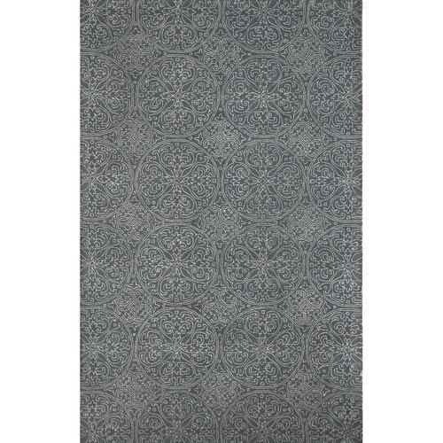 Amer Rugs Serendipity Ghent Design Steel Gray Rectangular: 2 Ft. x 3 Ft. Rug