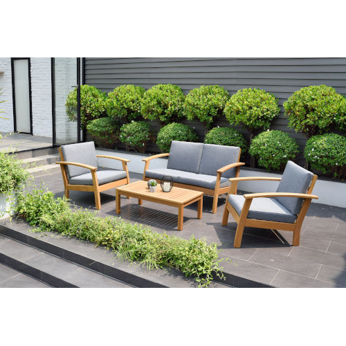 Amazonia Teak Deep Seating Set, 4-Piece