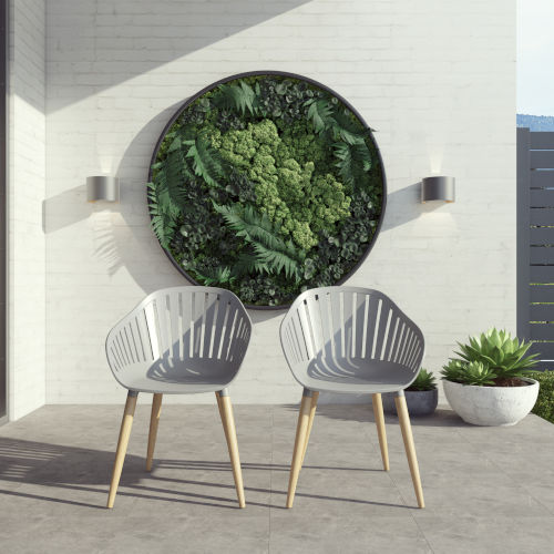 Amazonia Gray Chair Set with Resin Seats, 2-Piece
