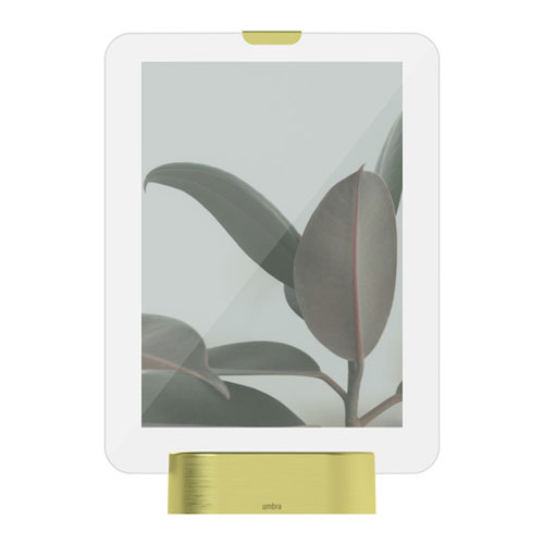 Glo LED 5 x 7 In. Matte Brass Photo Display