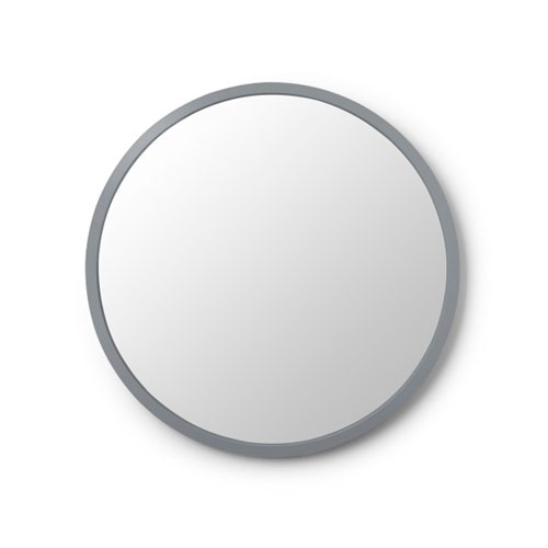 Hub 24 In. Grey Round Wall Mirror
