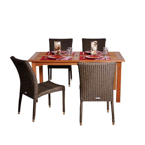 International Home Miami Brugge Five-Piece Dining Set