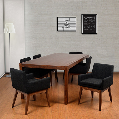 Merveilleux Midtown Concept Ruby 7 Piece Black Rectangular Dining Set