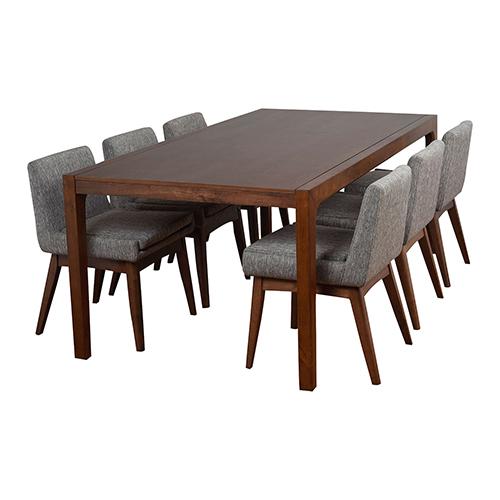 Midtown Concept Ruby 7 Piece Grey Rectangular Dining Set