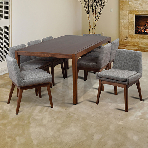 Midtown Concept Ruby 9 Piece Coral Rectangular Dining Set
