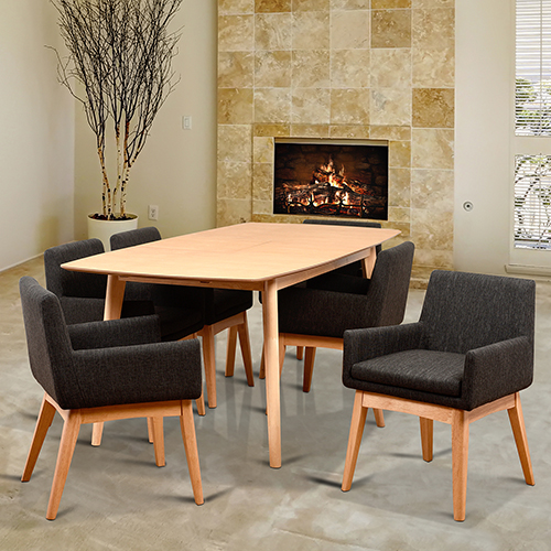 Midtown Concept Ruby 7 Piece Rectangular Dining Set