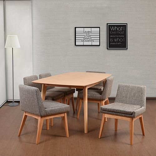 Midtown Concept Ruby 7 Piece Cream Rectangular Dining Set