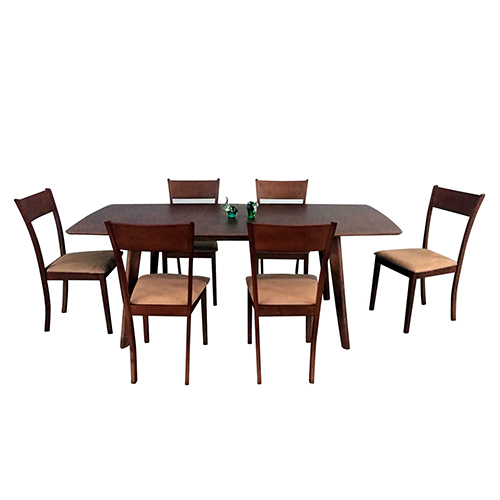 Claire Mid-Century 5 Piece Extendable Dining Set, Brown