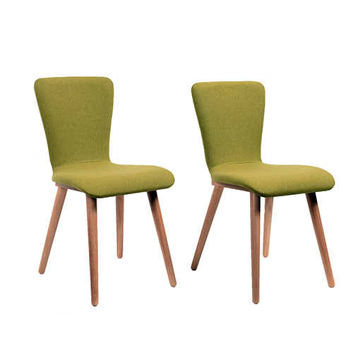 Vicky 2 Piece Dining Chair Set, Green