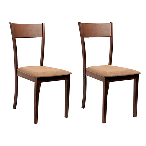 Claire 2 Piece Dining Chair Set, Brown