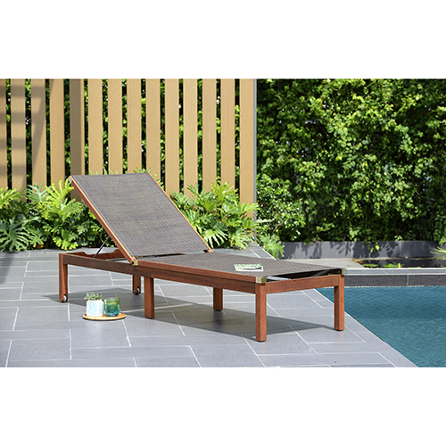 Amazonia Zuiderdam Patio Lounger, Brown