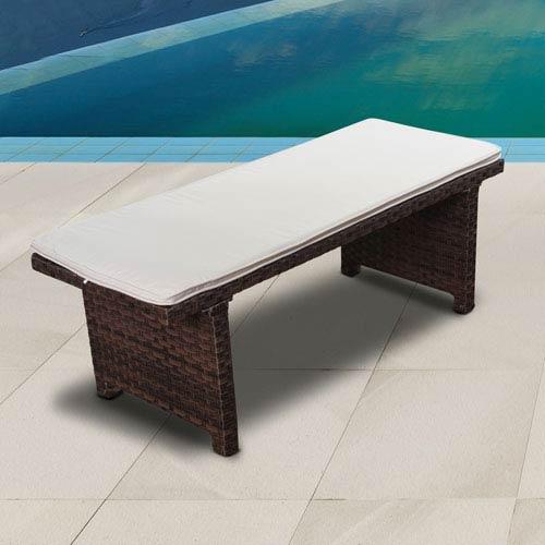 International Home Miami Atlantic Bellagio Patio 2-Seater Bench, Brown