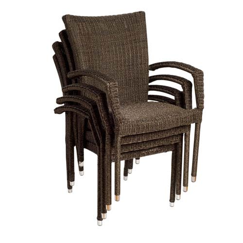 International Home Miami Bari Armchairs, Set of Four