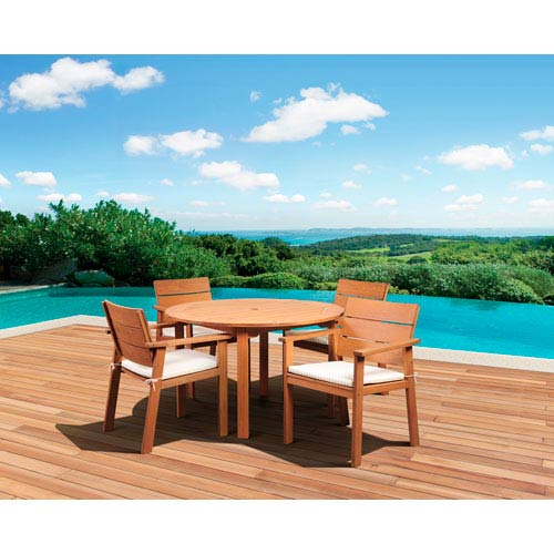 International Home Miami Amazonia Nelson Eucalyptus Five-Piece Round Dining Set