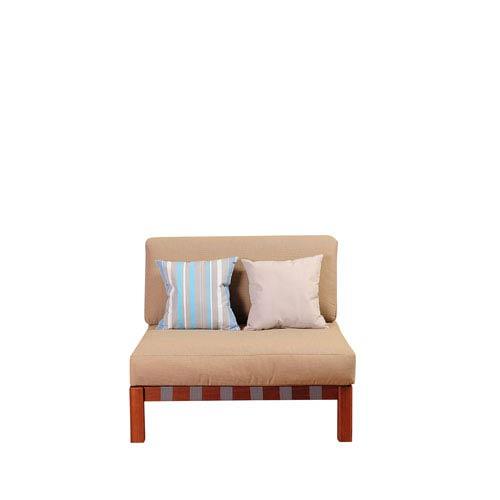 International Home Miami Amazonia Derbyshire Eucalyptus Sectional Middle Piece with Khaki Cushions By Jamie Durie