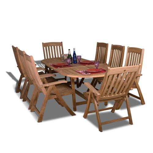 Belfast Nine-Piece Teak Dining Set
