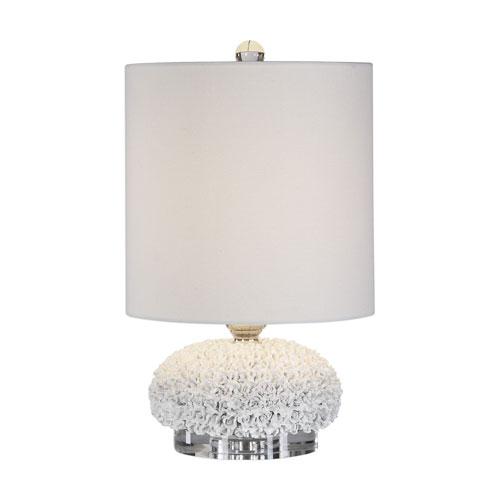 Dellen White Floral One-Light Buffet Lamp