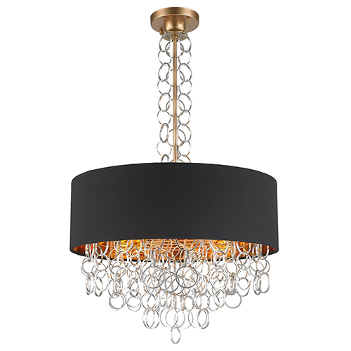 Worldwide Lighting Corp Catena Matte Gold Six-Light Pendant