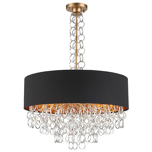 Catena Matte Gold Eight-Light Pendant