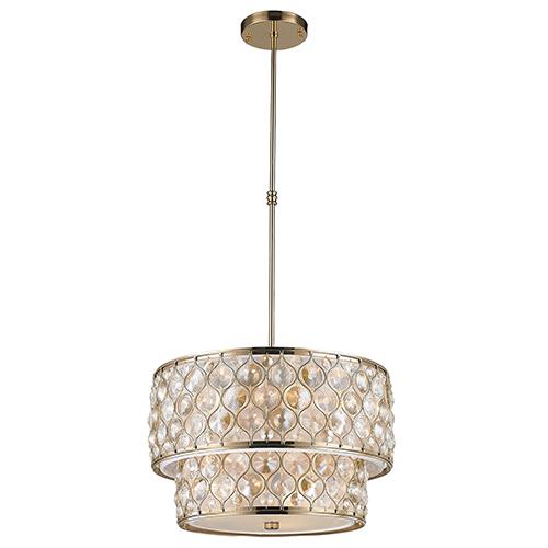 Worldwide Lighting Corp Paris Champagne Nine-Light Pendant