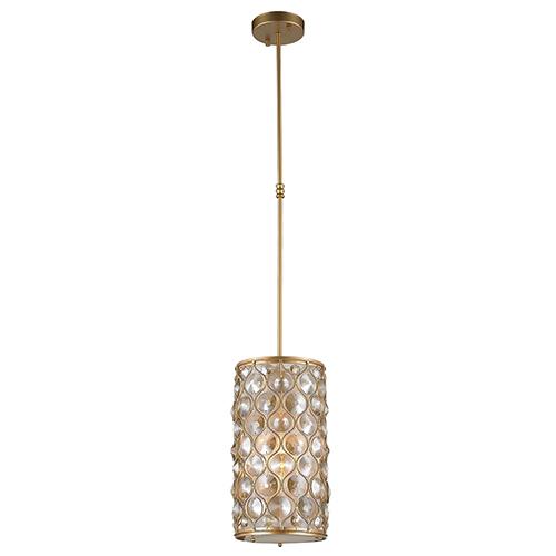 Worldwide Lighting Corp Paris Matte Gold One-Light Mini Pendant