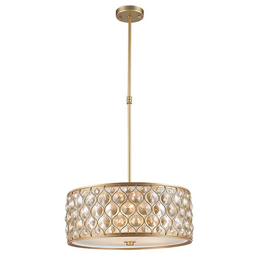 Worldwide Lighting Corp Paris Matte Gold Five-Light Pendant