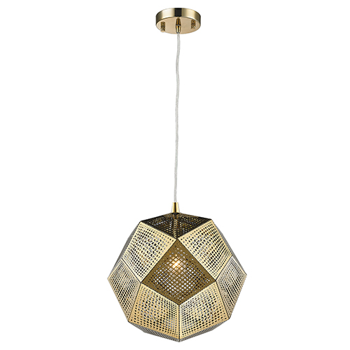 Worldwide Lighting Corp Geometrics Rose Gold 10-Inch One-Light Pendant