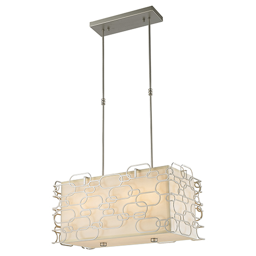 Montauk Matte Nickel Eight-Light Pendant