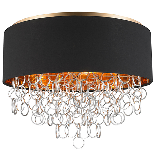 Worldwide Lighting Corp Catena Matte Gold Six-Light Flush Mount