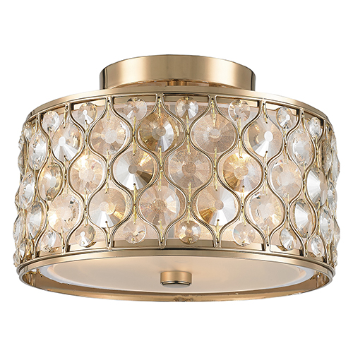 Paris Champagne Three-Light Semi Flush Mount
