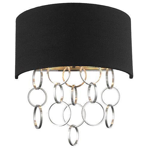 Catena Matte Nickel Two-Light Wall Sconce