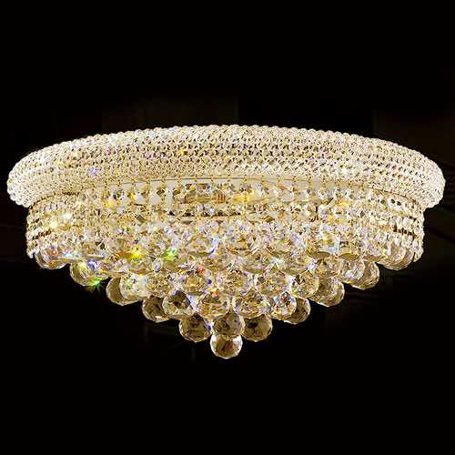 Empire Four-Light Gold Finish with Clear-Crystals Wall Sconce