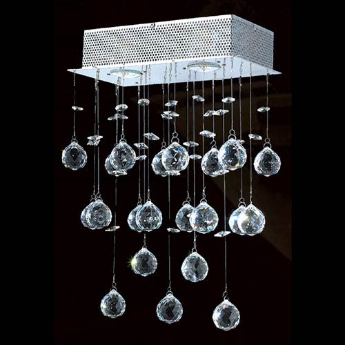 Worldwide Lighting Corp Icicle Three-Light Chrome Finish with Clear-Crystals Wall Sconce