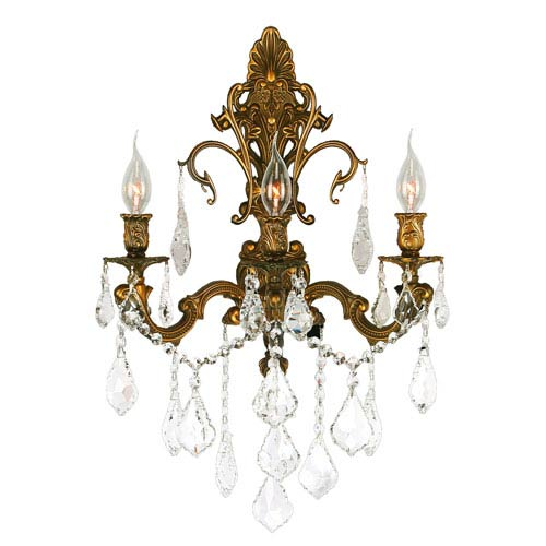 Versailles French Gold Three-Light Wall Sconce