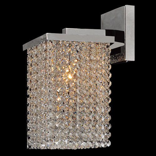 Prism Chrome Finish with Clear-Crystals Wall Sconce