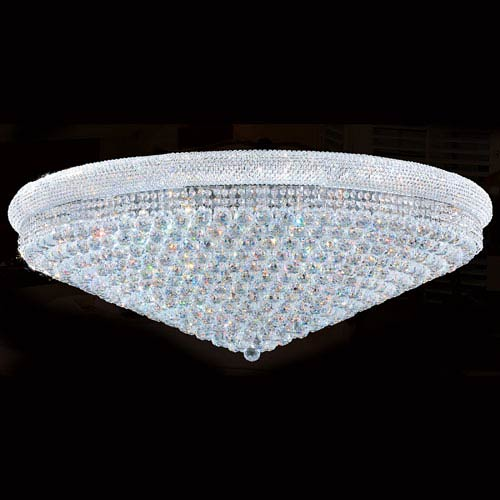 Worldwide Lighting Corp Empire 33-Light Chrome Finish with Clear-Crystals Ceiling-Light
