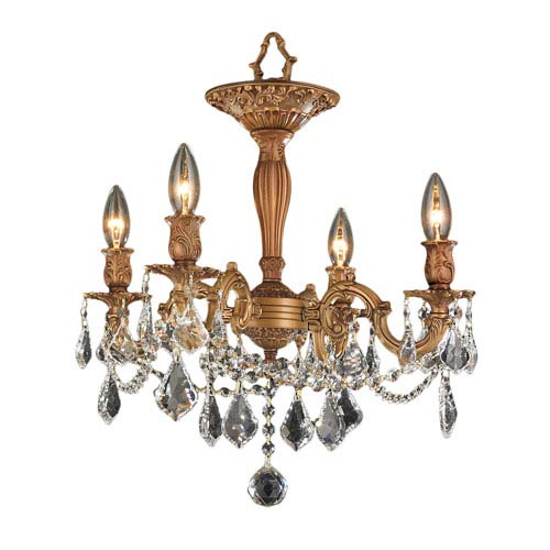Windsor French Gold Four-Light Semi-Flush