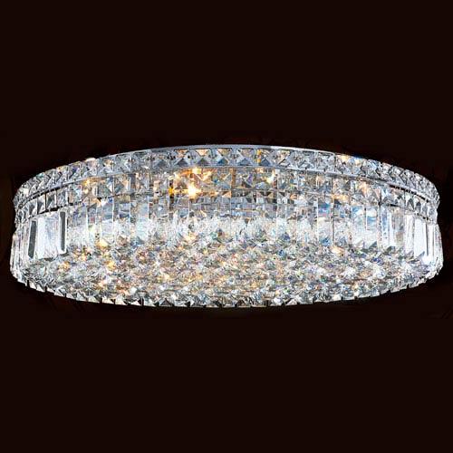Cascade Nine-Light Chrome Finish with Clear-Crystals Ceiling-Light