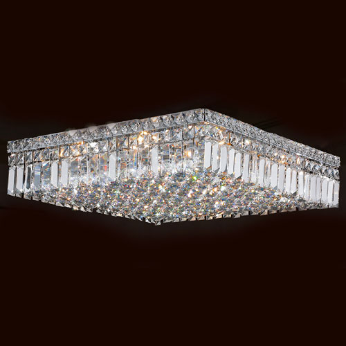 Cascade 12-Light Chrome Finish with Clear-Crystals Ceiling-Light