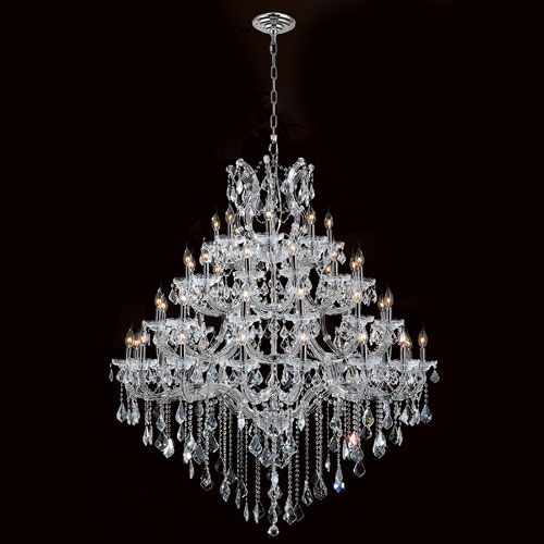 Maria Theresa Chandelier 49-Light Chrome Finish with Clear-Crystals Chandelier