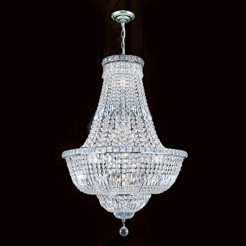 Empire 22-Light Chrome Finish with Clear-Crystals Chandelier